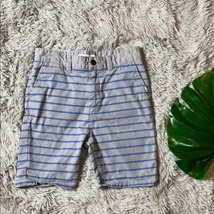 Quiksilver boys grey striped shorts size 28